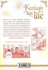 Verso de A Fantasy lazy life -7- Volume 7