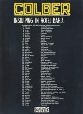 Verso de Sombrero Zwarte reeks -48- Insluiping in Hotel Bahia