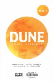 Verso de Dune: House Atreides -1- Issue #1