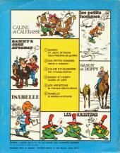 Verso de Les mousquetaires -1- Câline et Calebasse Les Mousquetaires