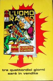 Verso de L'uomo Ragno V1 (Editoriale Corno - 1970)  -85- Kingpin ritorna in Gioco