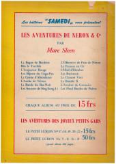 Verso de Samedi Jeunesse -7- Luc Bradefer