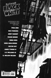Verso de Batman Black and White (DC Comics - 2021) -1- Issue # 1