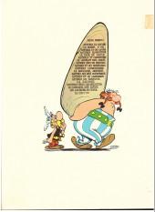 Verso de Astérix -4c1972/10- Astérix gladiateur
