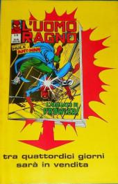 Verso de L'uomo Ragno V1 (Editoriale Corno - 1970)  -93- L'Attacco di Iceman