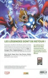 Verso de Legends of Marvel - Avengers