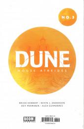 Verso de Dune: House Atreides -3- Issue #3
