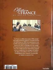 Verso de Histoire de France en bande dessinée -51- L'entre-deux guerres le Front populaire et le gouvernement Blum 1934/1938