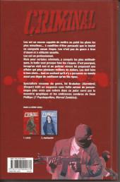 Verso de Criminal -1a2008- Lâche !