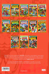Verso de Captain Marvel (L'intégrale) -3- L'intégrale 1972-1974