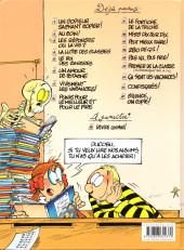 Verso de L'Élève Ducobu -14a2011/12- Premier de la classe (en commençant par la fin)