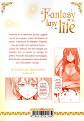 Verso de A Fantasy lazy life -8- Volume 8