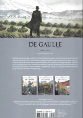 Verso de Les grands Personnages de l'Histoire en bandes dessinées -52- De gaulle - Tome 1