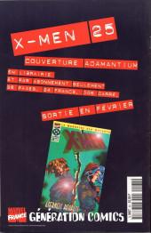 Verso de Wolverine (Marvel France 1re série) (1997) -62- La mort aux trousses 1/2