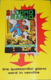 Verso de L'uomo Ragno V1 (Editoriale Corno - 1970)  -106- L'Uccisore di Ragni