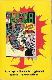 Verso de L'uomo Ragno V1 (Editoriale Corno - 1970)  -107- Lo Schermo Rivelatore
