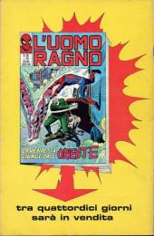 Verso de L'uomo Ragno V1 (Editoriale Corno - 1970)  -108- I Tentacoli della Morte