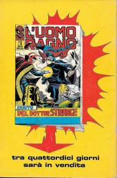 Verso de L'uomo Ragno V1 (Editoriale Corno - 1970)  -109- La Vendetta giunge dall'Oriente