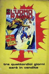 Verso de L'uomo Ragno V1 (Editoriale Corno - 1970)  -110- L'Aiuto del Dottor Strange
