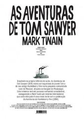 Verso de Clássicos da Literatura em BD -5- As aventuras de Tom Sawyer