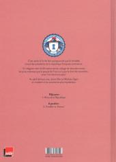 Verso de Le ministère secret -1- Héros de la république