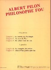 Verso de Albert Pilon philosophe fou -3- On achève bien les rats