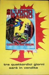 Verso de L'uomo Ragno V1 (Editoriale Corno - 1970)  -115- Testa di Martello
