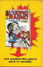 Verso de L'uomo Ragno V1 (Editoriale Corno - 1970)  -116- L'Ultima Battaglia