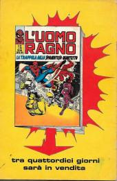Verso de L'uomo Ragno V1 (Editoriale Corno - 1970)  -117- Ritorna l'Uomo Sabbia