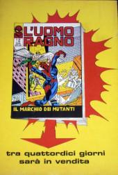 Verso de L'uomo Ragno V1 (Editoriale Corno - 1970)  -119- Ancora una Volta Morbius