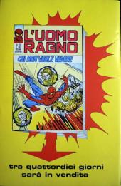 Verso de L'uomo Ragno V1 (Editoriale Corno - 1970)  -121- Vibrazioni Psichiche