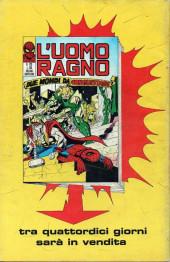 Verso de L'uomo Ragno V1 (Editoriale Corno - 1970)  -122- Chi non vuole vedere