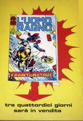 Verso de L'uomo Ragno V1 (Editoriale Corno - 1970)  -124- L'Assassino colpisce a Mezzanotte