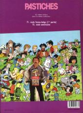 Verso de Pastiches -3- École franco-belge - 2