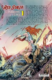 Verso de Red Sonja, la diablesse à l'épée (Les Aventures Originales) -1- Les Années Marvel, volume 1