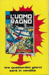 Verso de L'uomo Ragno V1 (Editoriale Corno - 1970)  -145- Il più grosso Smeraldo del Mondo