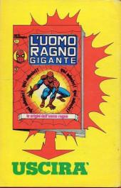 Verso de L'uomo Ragno V1 (Editoriale Corno - 1970)  -161- La Pazzia di Goblin