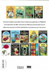 Verso de Tintim - Divers (en portugais) - As aventuras de Tintim no Público - Guia de leitura