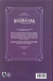 Verso de Critical Role Vox Machina : Origines -2- Tome 2