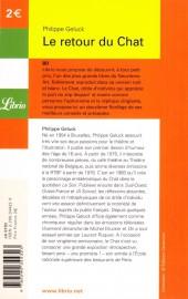 Verso de Le chat -2Librio- Le retour du Chat