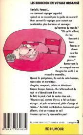 Verso de Les bidochon -6Poch- Les Bidochon en voyage organisé