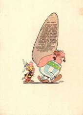Verso de Astérix -18a1973- Les lauriers de César