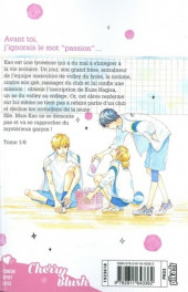Verso de I fell in love after school - Tome 1