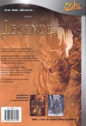 Verso de Légende -1Solo- L'Enfant loup