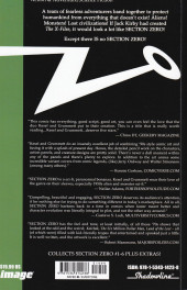 Verso de Section Zero (Image Comics - 2019) -INT01- There is No Section Zero!