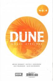 Verso de Dune: House Atreides -4- Issue #4