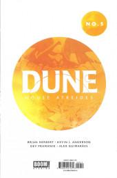 Verso de Dune: House Atreides -5- Issue #5