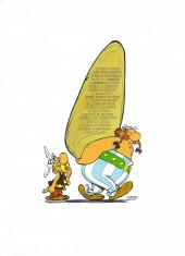 Verso de Astérix (en portugais) -2- A foice de oiro