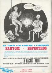 Verso de Fantom Vol.1 (Vertice - 1972) -2- La venganza del fantasma