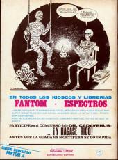 Verso de Fantom Vol.1 (Vertice - 1972) -4- El hombre que se negó a morir